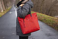 Veľké tašky - Maxi červená s černým vzorem - 11422311_