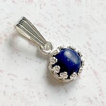 Náhrdelníky - Mini Lapis Lazuli AG925 Pendant / Strieborný prívesok s lazuritom - 11422003_