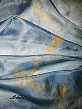 Šály - Šál hodvábny -nočná obloha - 11421519_