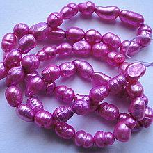 Korálky - Sladkovodné perly-návlek cca 36cm - 11422659_