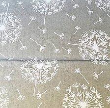 Textil - Odkvitnutá púpava, 100 % bavlna Poľsko, šírka 160 cm - 11421518_