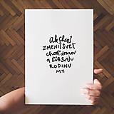 Grafika - Ľúb svoju rodinu - typografia - 11422215_