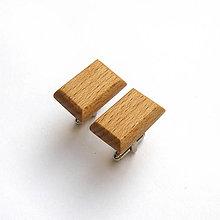Šperky - Drevené manžetové gombíky - bukové obdĺžničky - 11422506_
