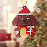 Dekorácie - Vianočný psík na zavesenie - 11422587_