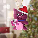 Dekorácie - Vianočná mačička na zavesenie - 11422589_