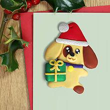 Magnetky - Vianočný psík - magnetka - 11422588_