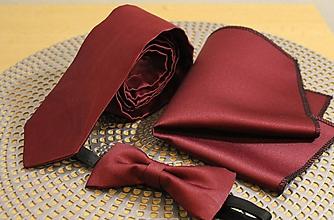 Doplnky - Bordová pánska kravata - 11423622_