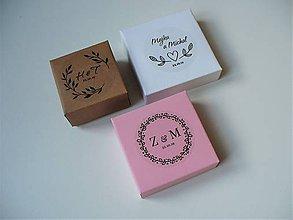 Krabičky - krabička pre svadobčanov - 11422953_