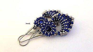 Náušnice - Pod hladinou...mini (nikel-modrá) - 11423088_