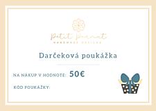 Náušnice - Darčeková poukážka v hodnote 50€ - 11424507_