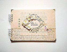 Papiernictvo - Fotoalbum svadobný veľký A4 - 11423990_