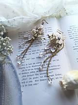 """Náušnice - Kvetinové náušnice """"to, čo mám na srdci"""" - 11424546_"""