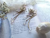 """Náušnice - Kvetinové náušnice """"to, čo mám na srdci"""" - 11424547_"""