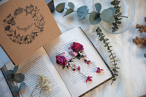 """Kvetinové náušnice """"tvoje objatia"""""""
