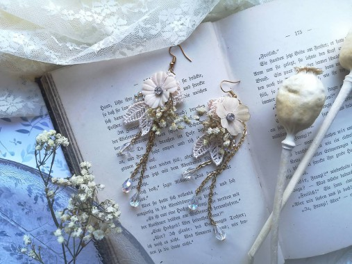 """Kvetinové náušnice """"to, čo mám na srdci"""""""