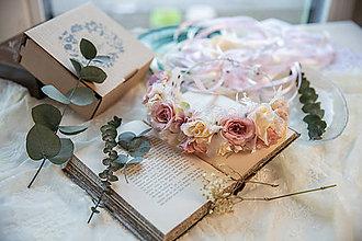 """Ozdoby do vlasov - Romantická svadobná parta """"láska nežná"""" - 11424478_"""