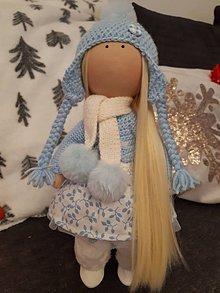 Bábiky - Bielo-modrá bábika - 11424285_