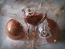 ROSE GOLD vianočné guľe s 3D fotkou