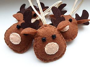 Dekorácie - Vianočné ozdoby - jelene - 11425055_