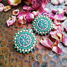 Náušnice - Boho earrings n.1 - vyšívané náušnice - 11424775_