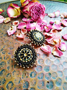 Náušnice - Boho earrings n.2 - vyšívané náušnice - 11424780_