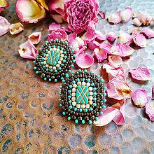 Náušnice - Boho earrings n.4 - vyšívané náušnice - 11424782_