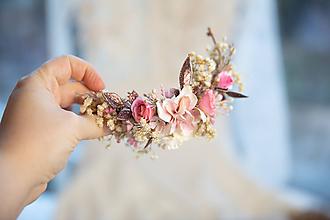 """Ozdoby do vlasov - Kvetinový štvrťvenček """"nádej a sny"""" - 11425798_"""