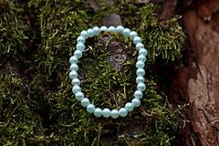Náramky - Perleťový bledomodrý náramok - 11425096_