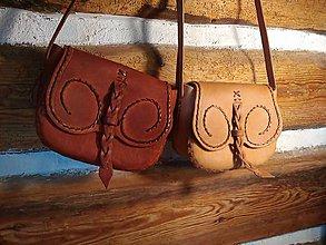 Kabelky - Malá kabelôčka s pleteným vzorom (Tmava Zelená) - 11424908_