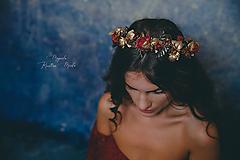 """Ozdoby do vlasov - Kvetinový polvenček """"o tajomstvách"""" - 11426340_"""