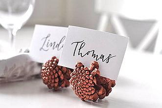 Papiernictvo - Personalizované ručne písané menovky - 11426102_