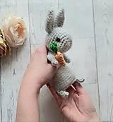 Hračky - Ňu-ňu zajko s mrkvou - 11426660_