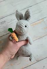 Hračky - Ňu-ňu zajko s mrkvou - 11426661_