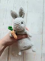Hračky - Ňu-ňu zajko s mrkvou - 11426662_