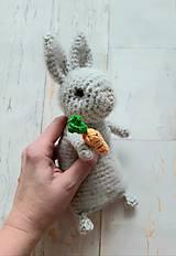 Hračky - Ňu-ňu zajko s mrkvou - 11426663_