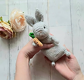 Hračky - Ňu-ňu zajko s mrkvou - 11426664_