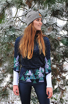 Mikiny - Black snowy days  - termo top s dlhým rukávom - 11427149_