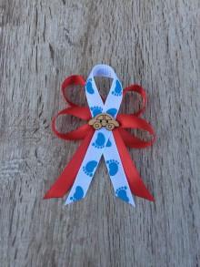 Odznaky/Brošne - mašlička na kočík  (Modrá) - 11426952_