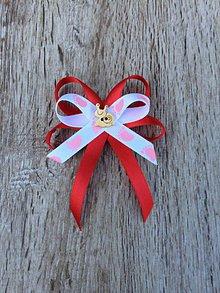 Odznaky/Brošne - mašlička na kočík  (Ružová) - 11426955_