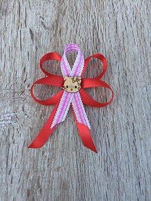 Odznaky/Brošne - mašlička na kočík  (Ružová) - 11427181_