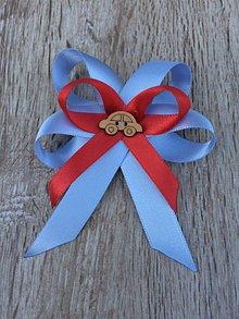 Odznaky/Brošne - mašlička na kočík  (Modrá) - 11427185_