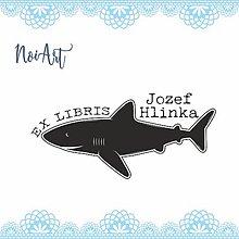 Nezaradené - Pečiatka EX LIBRIS žralok - 11428441_