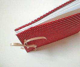 Papiernictvo - Fotoalbum klasický bodkovaný červený - 11428010_