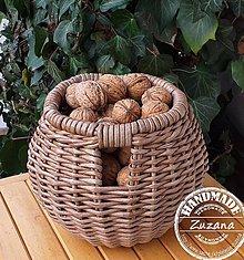 Košíky - Košíček na orechy 18x18 skladom - 11428286_