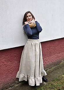 Sukne - western-sukňa s volánom - 11428257_