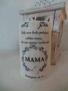 Svietidlá a sviečky - Palmová sviečka pre mamu - 11428328_