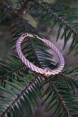 Náramky - Ružový náramok z točenej šnúry - 11428490_
