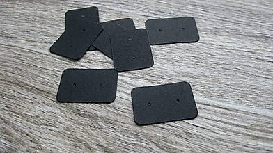Obalový materiál - Karta na napichovacie náušnice, 10 ks (čierna farba) - 11428096_