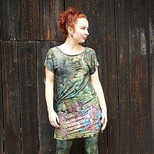 Tričká - Dlouhé triko/šaty - malované - 11428421_