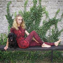 Tričká - Dlouhé triko/šaty - malované - 11428598_